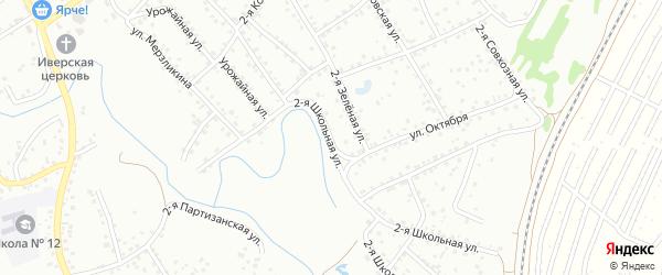 2-я Школьная улица на карте Новоалтайска с номерами домов