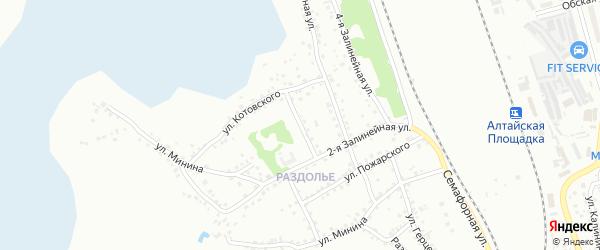 3-я Залинейная улица на карте Новоалтайска с номерами домов