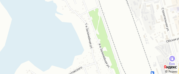 1-я Залинейная улица на карте Новоалтайска с номерами домов