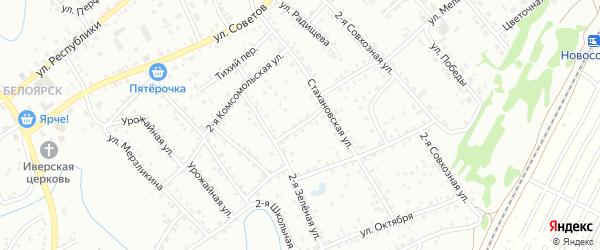 2-я Зеленая улица на карте Новоалтайска с номерами домов