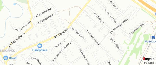 Улица Радищева на карте Новоалтайска с номерами домов