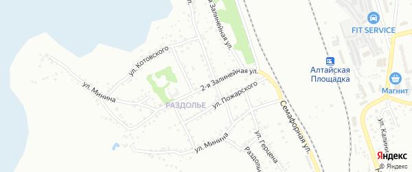 2-я Залинейная улица на карте Новоалтайска с номерами домов