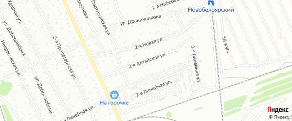 2-я Алтайская улица на карте Новоалтайска с номерами домов