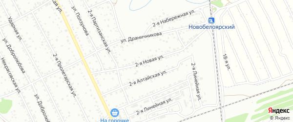 2-я Новая улица на карте Новоалтайска с номерами домов