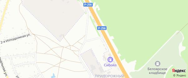 Ипподромная улица на карте Новоалтайска с номерами домов