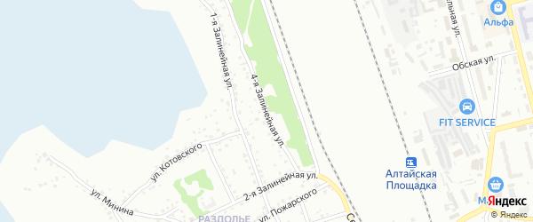 4-я Залинейная улица на карте Новоалтайска с номерами домов