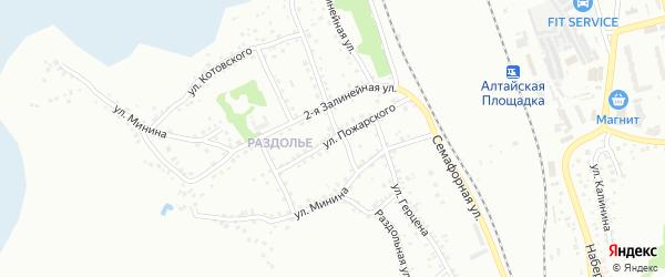 Улица Пожарского на карте Новоалтайска с номерами домов