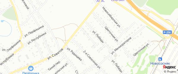 2-я Строительная улица на карте Новоалтайска с номерами домов