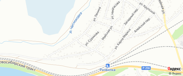 Улица Сурикова на карте Новоалтайска с номерами домов