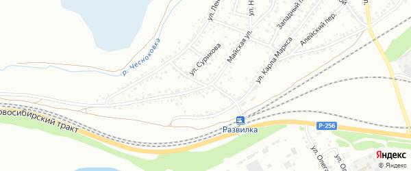 Водопроводный переулок на карте Новоалтайска с номерами домов