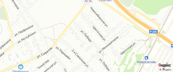 Улица Победы на карте Новоалтайска с номерами домов