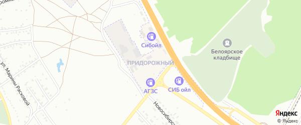 Придорожный микрорайон на карте села Зудилово с номерами домов