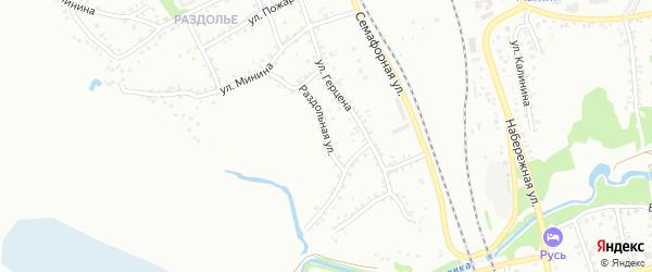 Раздольная улица на карте Новоалтайска с номерами домов