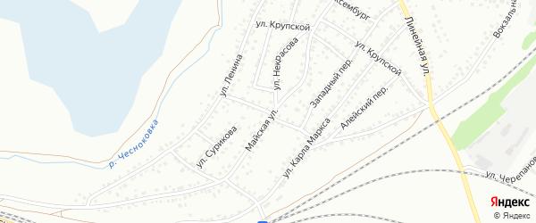 Улица Ломоносова на карте Новоалтайска с номерами домов