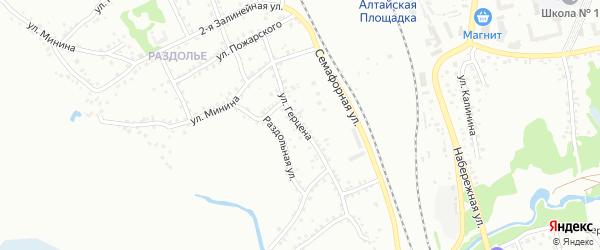 Улица Герцена на карте Новоалтайска с номерами домов