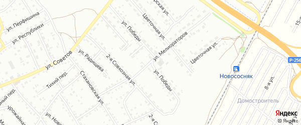 Целинная улица на карте Новоалтайска с номерами домов
