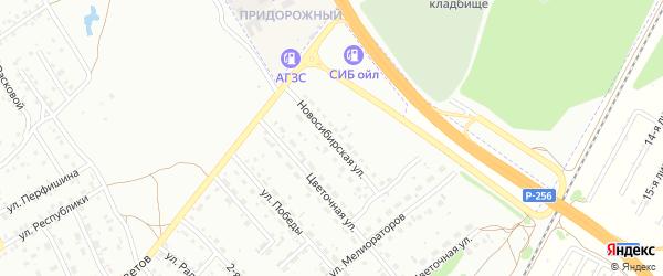 Новосибирская улица на карте Новоалтайска с номерами домов