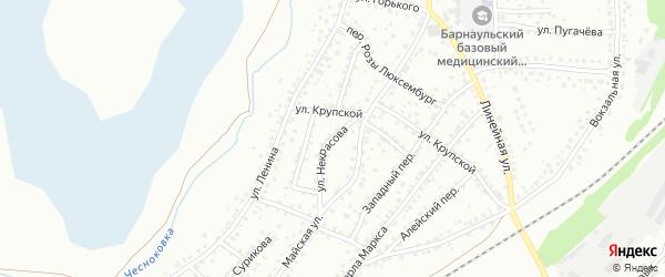 Улица Некрасова на карте Новоалтайска с номерами домов