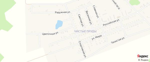 Спортивная улица на карте села Фирсово с номерами домов