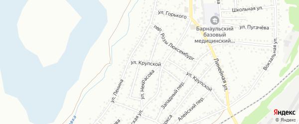 Улица Циолковского на карте Новоалтайска с номерами домов