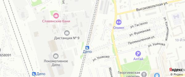 Светофорная улица на карте Новоалтайска с номерами домов