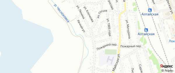 Речная улица на карте Новоалтайска с номерами домов