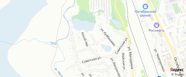 Новосибирский переулок на карте Новоалтайска с номерами домов