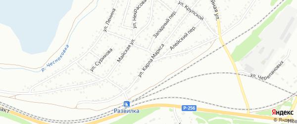 Улица К.Маркса на карте Новоалтайска с номерами домов
