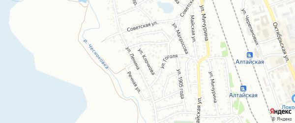 Улица Клочкова на карте Новоалтайска с номерами домов