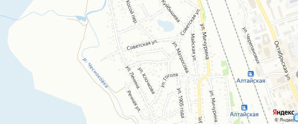 Социалистическая улица на карте Новоалтайска с номерами домов