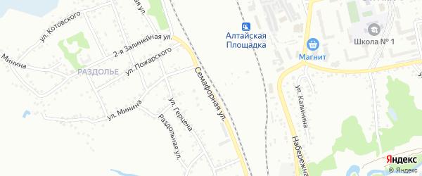 Семафорная улица на карте Новоалтайска с номерами домов