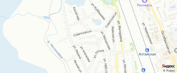 Улица Кожедуба на карте Новоалтайска с номерами домов