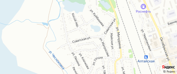 Советская улица на карте Новоалтайска с номерами домов