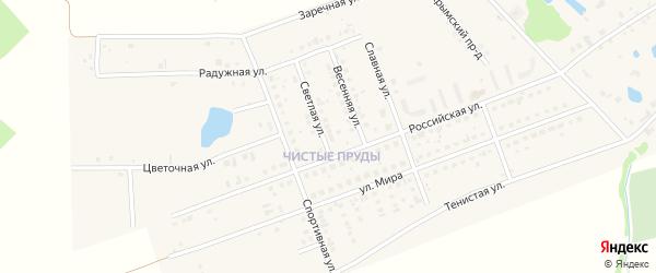 Микрорайон Чистые Пруды на карте села Фирсово с номерами домов