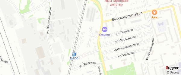 Тепловозная улица на карте Новоалтайска с номерами домов