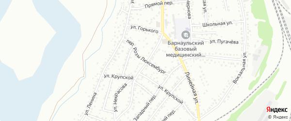 Улица Р.Люксембург на карте Новоалтайска с номерами домов