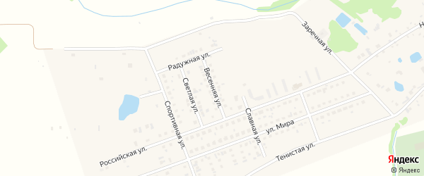 Весенняя улица на карте села Фирсово с номерами домов