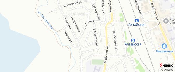 Улица Заслонова на карте Новоалтайска с номерами домов