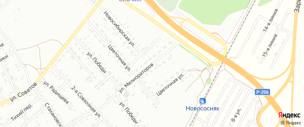 Улица Мелиораторов на карте Новоалтайска с номерами домов
