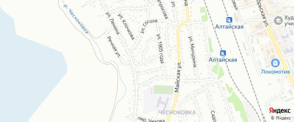 Улица Гончарова на карте Новоалтайска с номерами домов