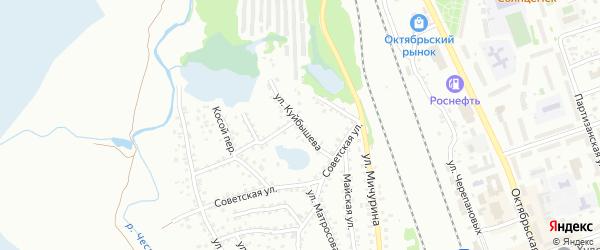 Улица Куйбышева на карте Новоалтайска с номерами домов