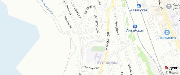 Улица Панфилова на карте Новоалтайска с номерами домов