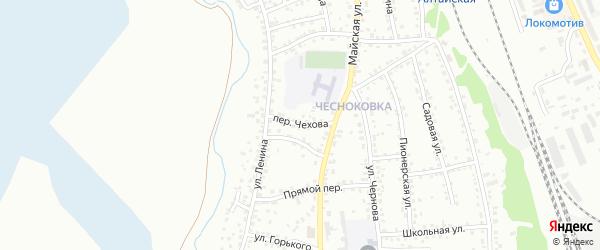 Переулок Чехова на карте Новоалтайска с номерами домов