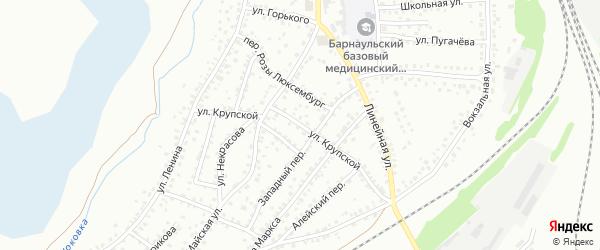 Улица Крупской на карте Новоалтайска с номерами домов
