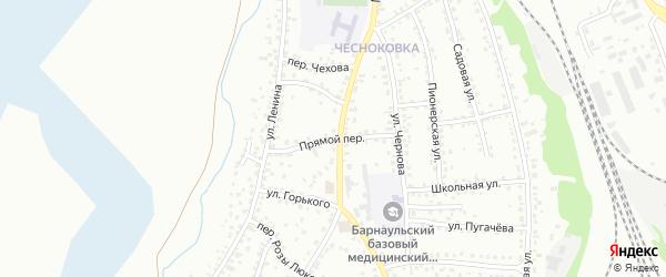 Прямой переулок на карте Новоалтайска с номерами домов