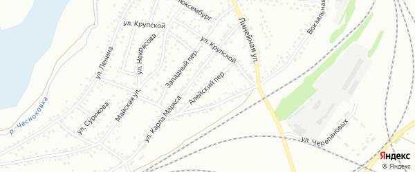 Алейский переулок на карте Новоалтайска с номерами домов