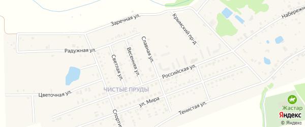 Славная улица на карте села Фирсово с номерами домов