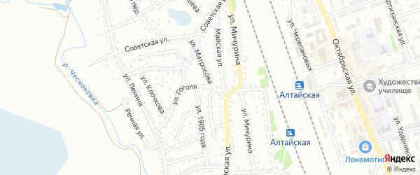 Улица Гоголя на карте Новоалтайска с номерами домов