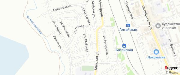 Улица Покрышкина на карте Новоалтайска с номерами домов
