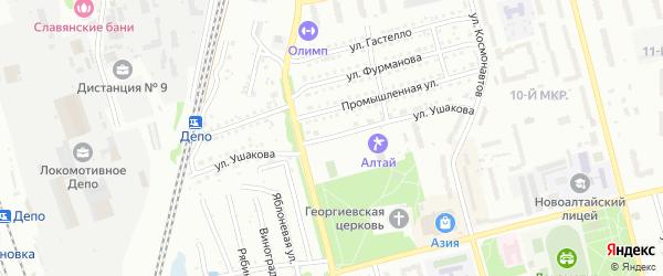 Улица Ушакова на карте Новоалтайска с номерами домов